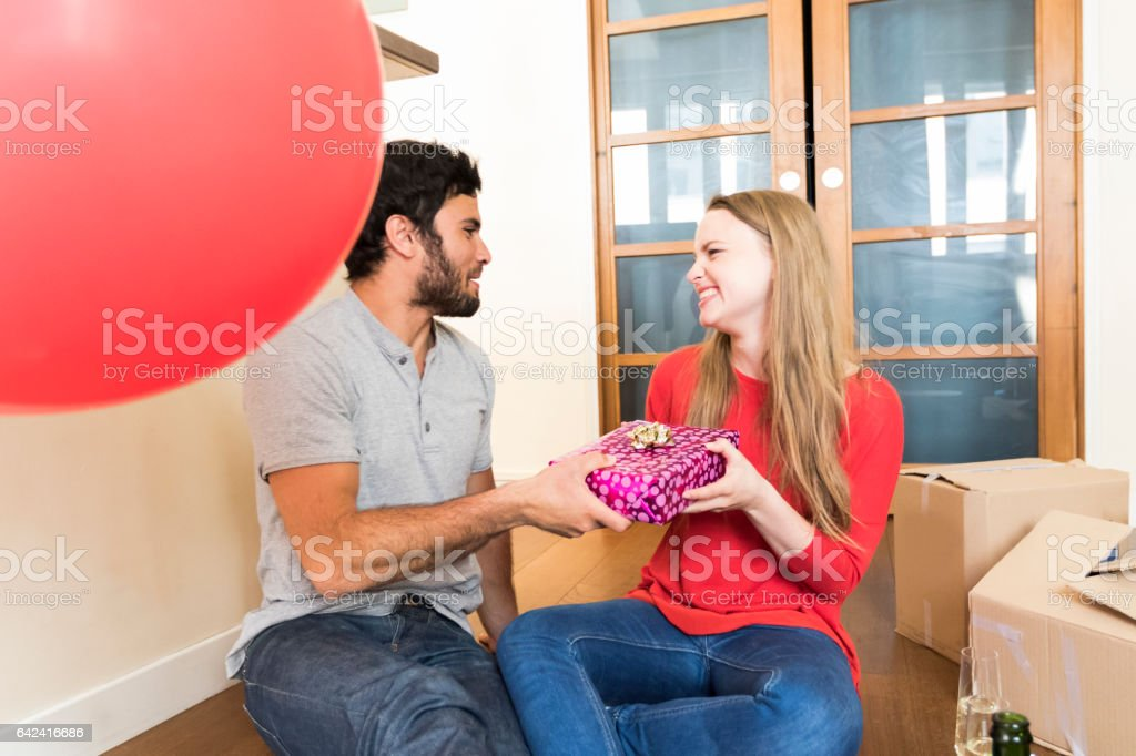 Congratulations honey, this is our new begining stock photo