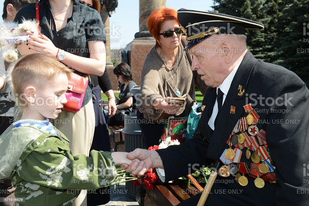 Congratulations in the Victory Day royalty-free stock photo