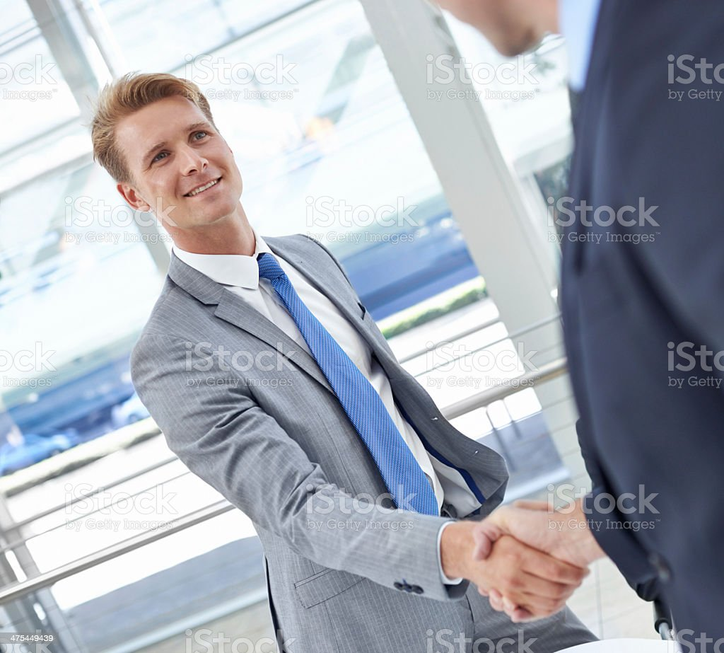 Congratulations on your recent promotion stock photo