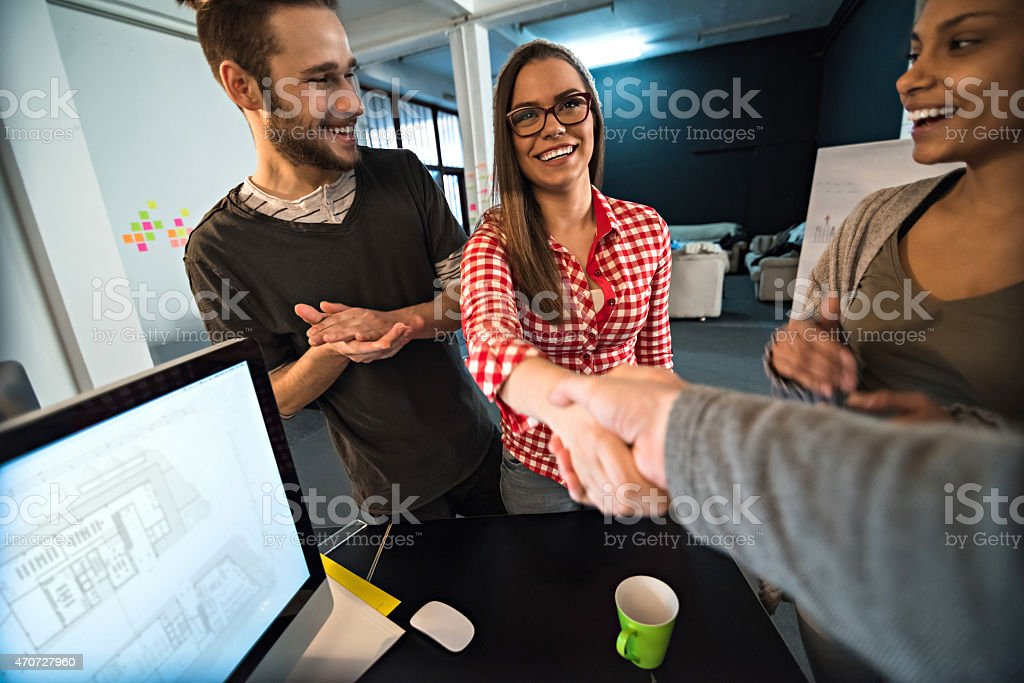 Congratulations! stock photo