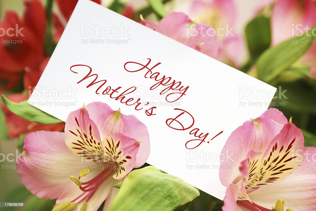 Congratulations with Mother's Day royalty-free stock photo