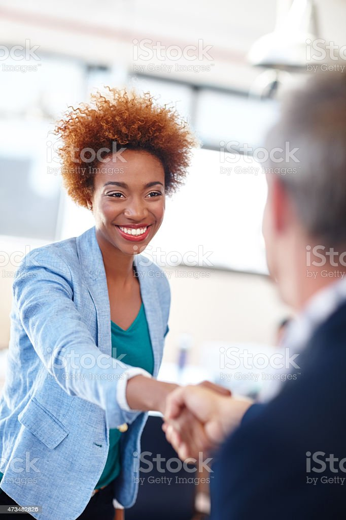 Congratulations, you deserve this promotion stock photo