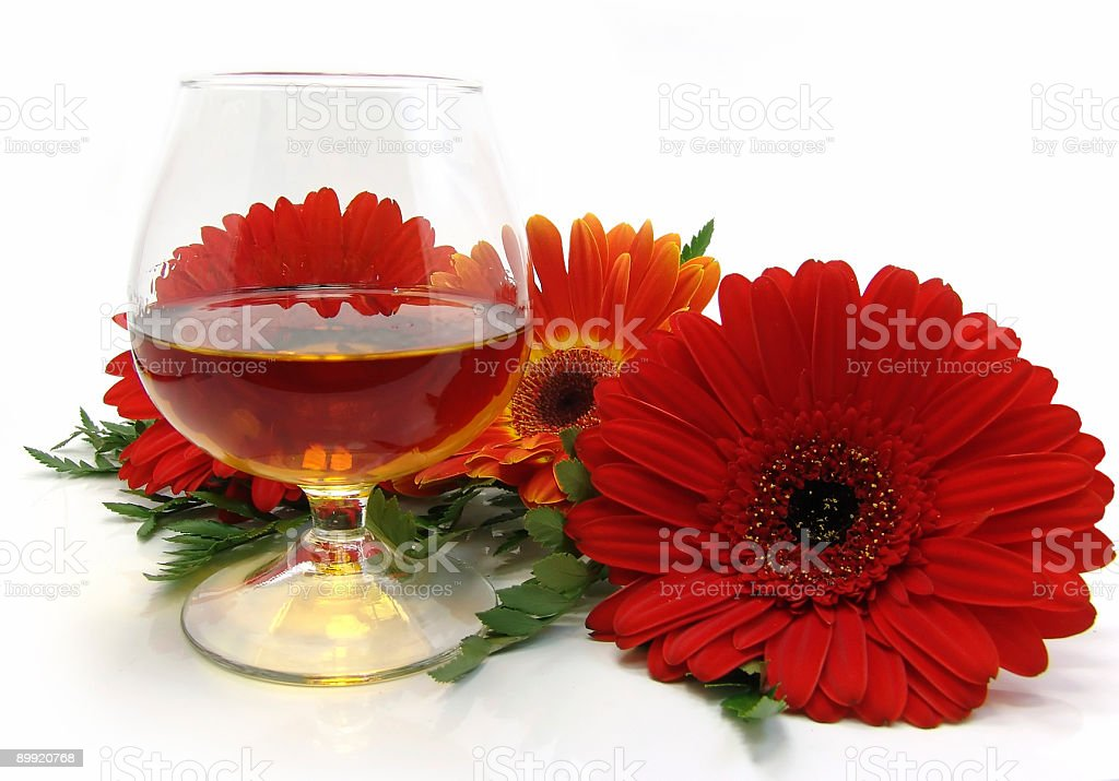 congratulatory card with cognac royalty-free stock photo
