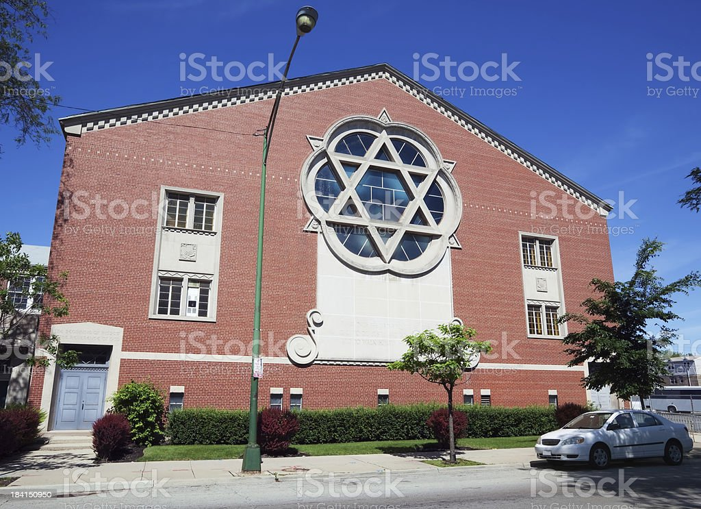 Congregation Shaare Tikvah. Jewish temple in North Park,  Chicag stock photo