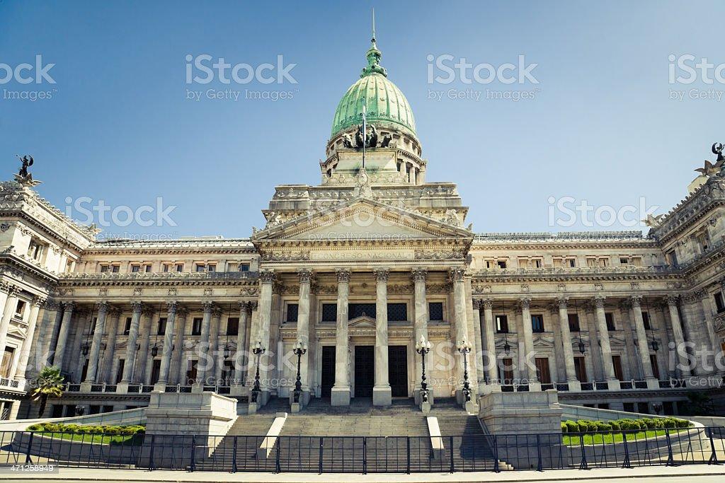 Congreso Nacional Building Exterior Buenos Aires royalty-free stock photo