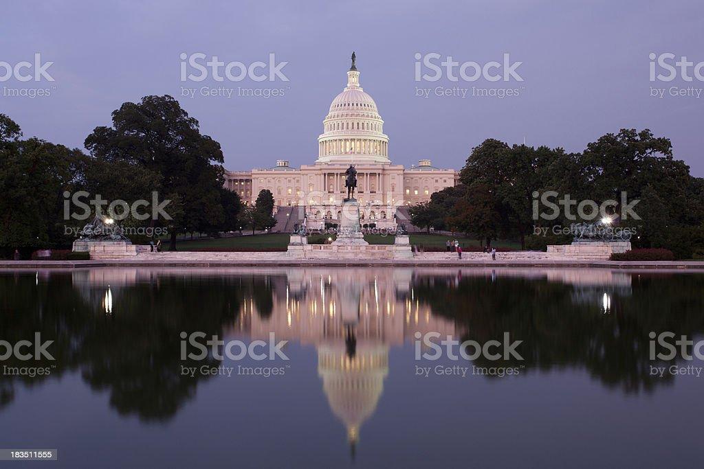 US Congress at dusk, Washington DC stock photo