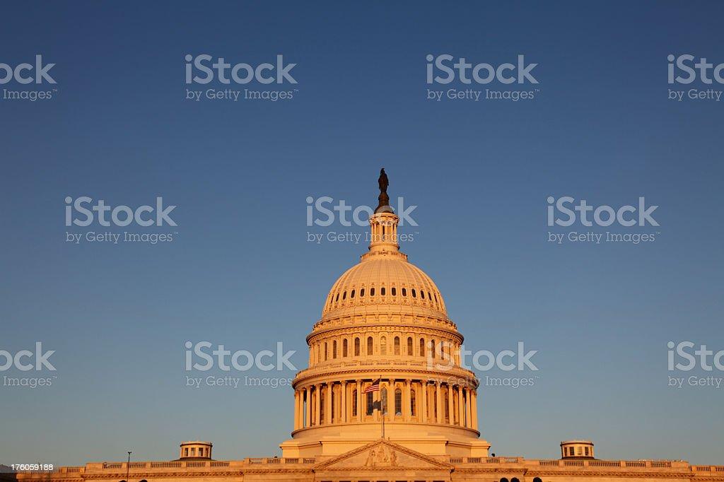 US Congress at Sunrise stock photo