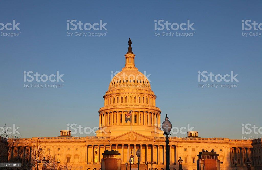 US Congress basking in  Sunrise stock photo