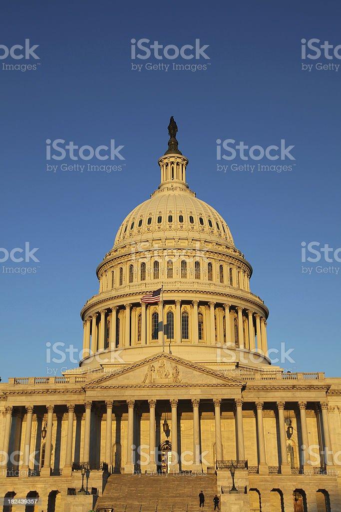 US Congress basking in  Sunrise, Washington DC stock photo