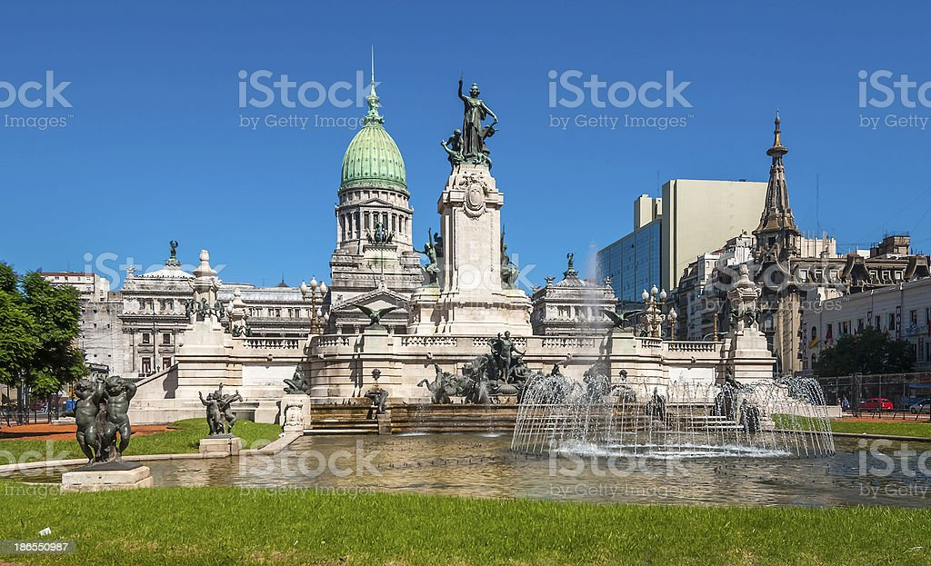 Congress building in Buenos Aires, Argentina stock photo