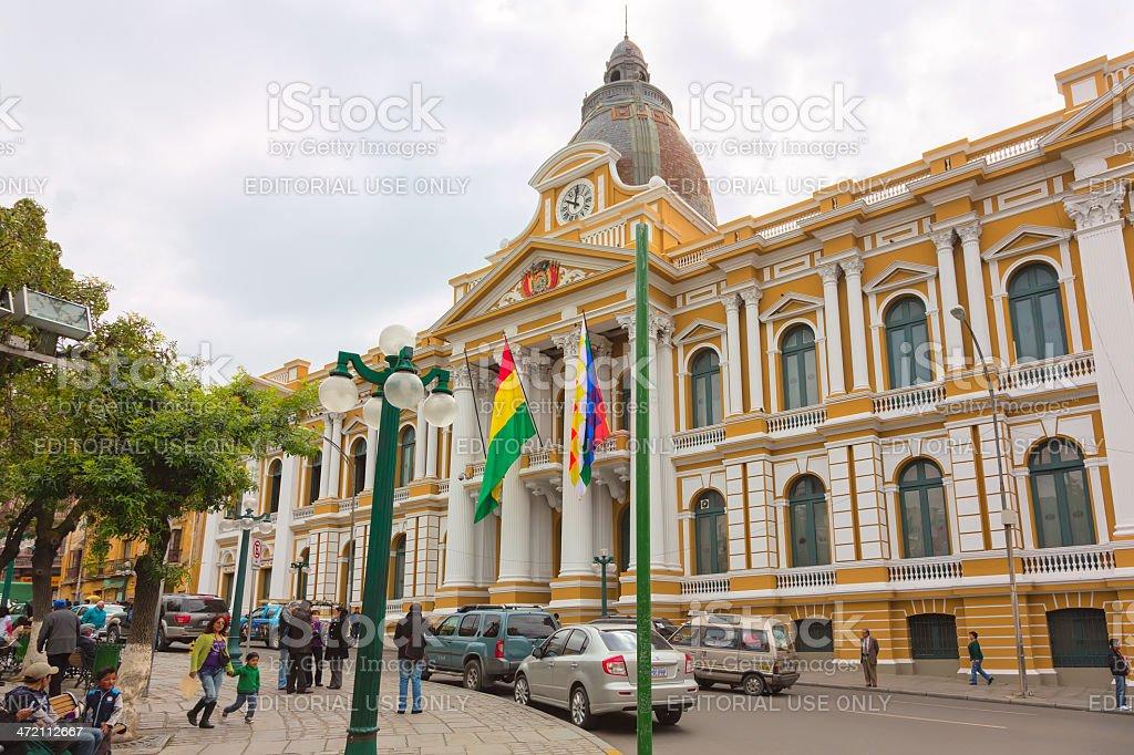Congress Building in La Paz, Bolivia stock photo