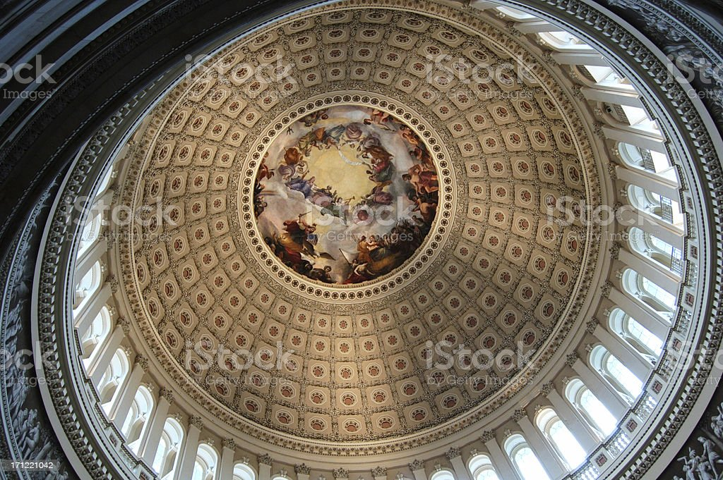 US Congress dome 2 stock photo