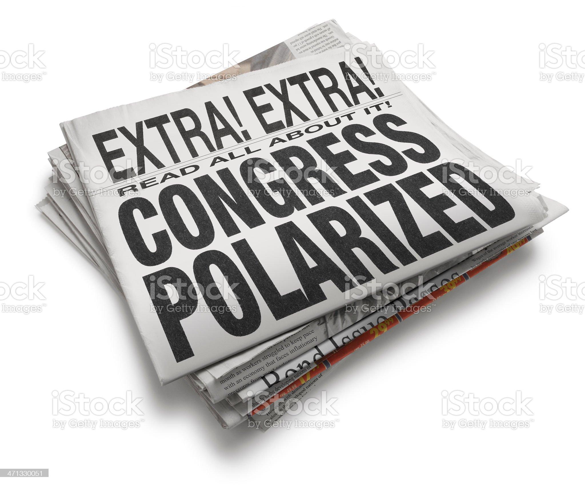 Congress Polarized royalty-free stock photo