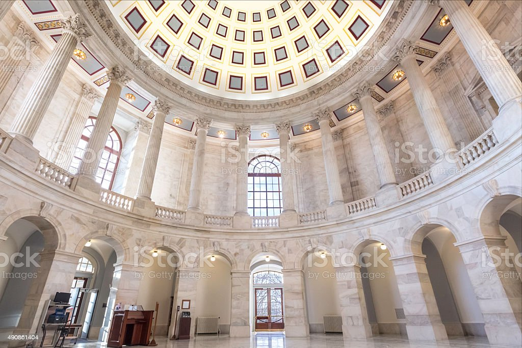 Congress U.S. Senate Russell Office Building stock photo
