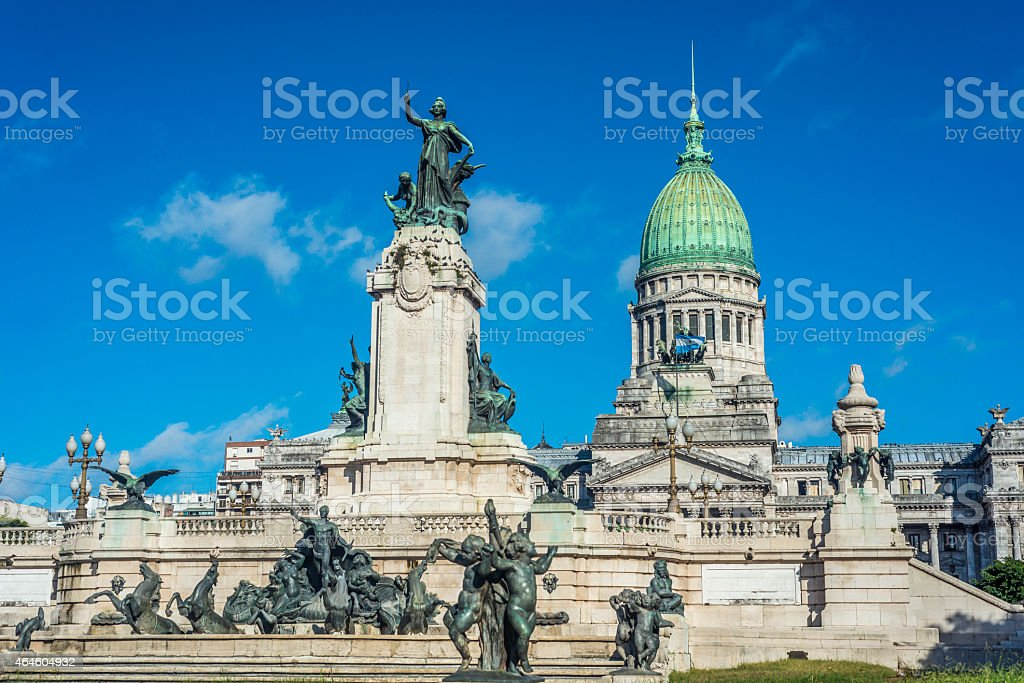 Congressional Plaza in Buenos Aires, Argentina stock photo