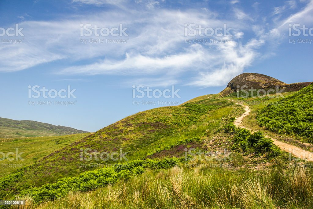 Conic Hill path stock photo