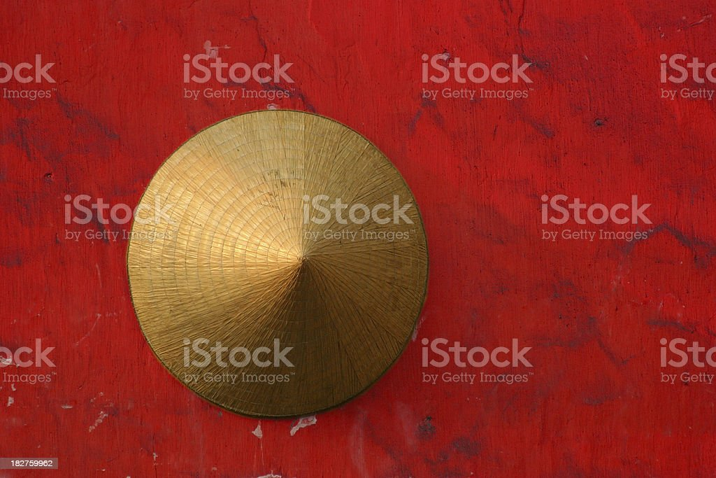 Conical Hat, Vietnam stock photo