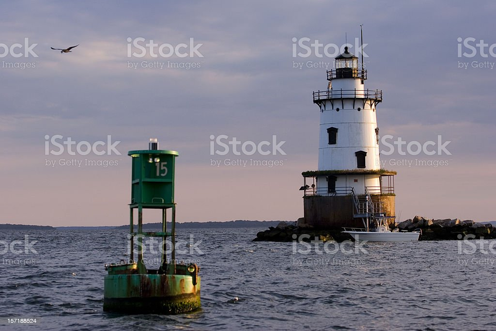 Conimicut Light, Rhode Island stock photo