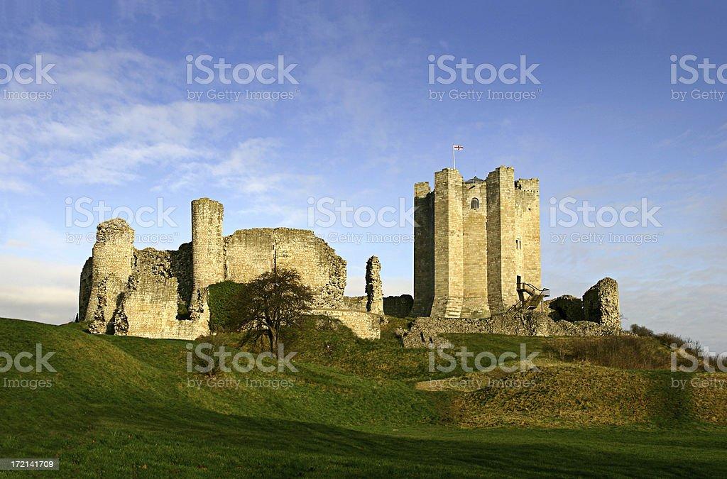 Conisbrough Castle stock photo
