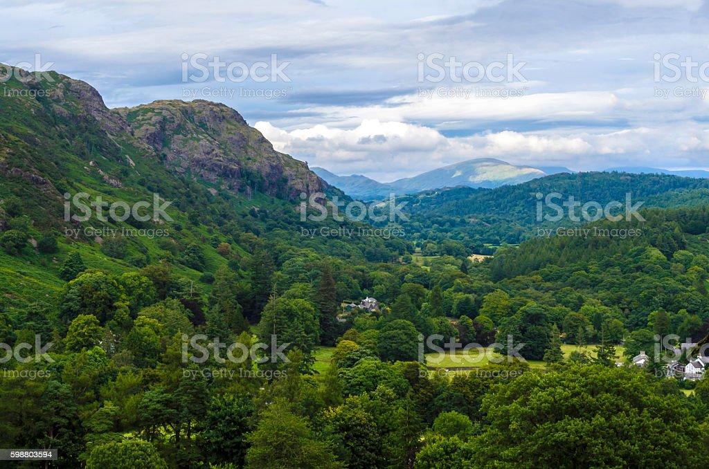 Coniston Foothills stock photo