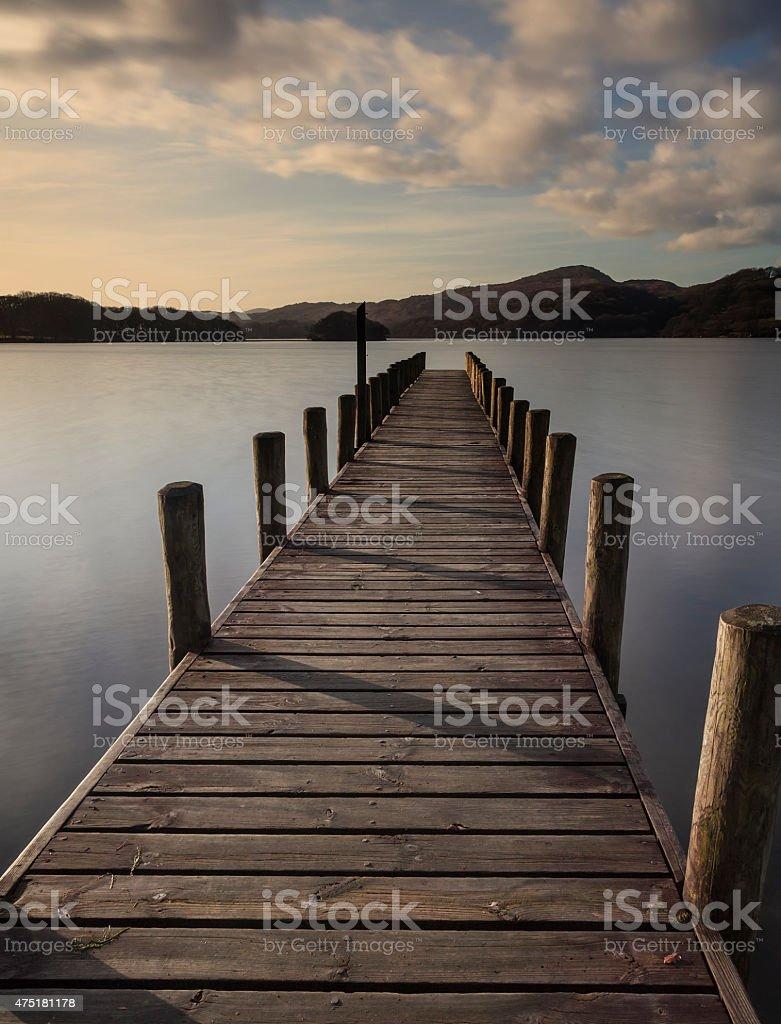 Coniston jetty stock photo