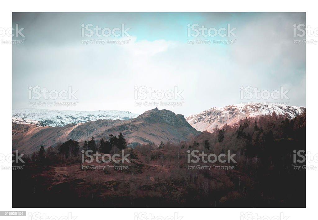 Coniston peak stock photo