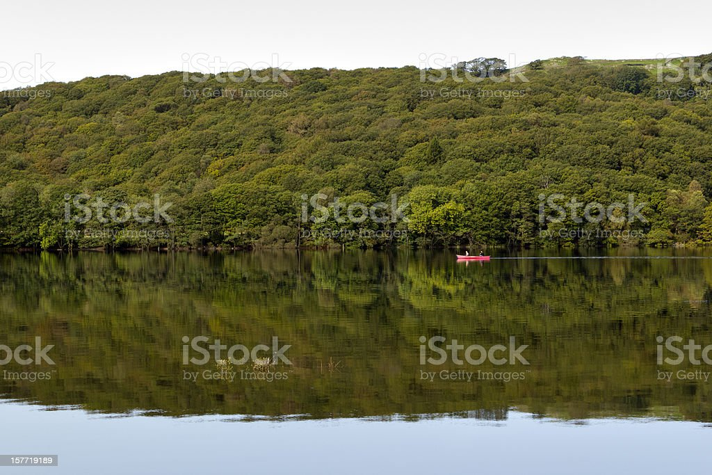 Coniston Water autumn morning in the Lake District, Cumbria, UK stock photo