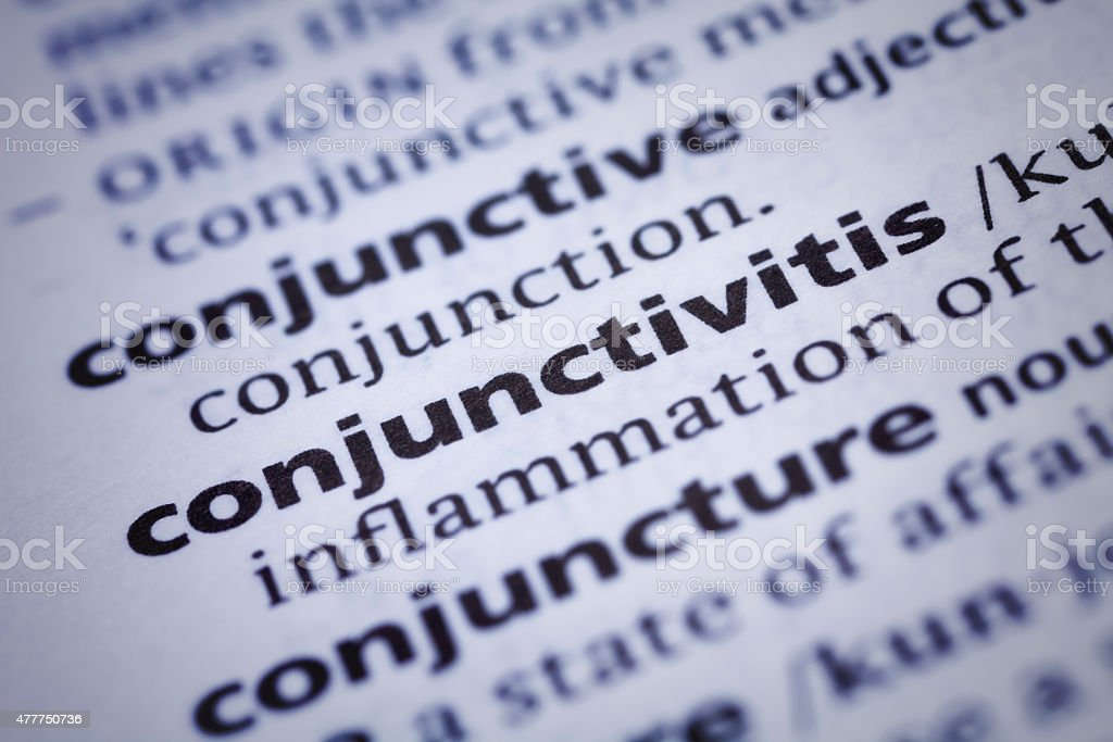 Conjunctivitis: Dictionary Close-up stock photo