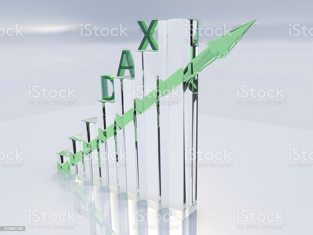 DAX Conjuncture 3D stock photo