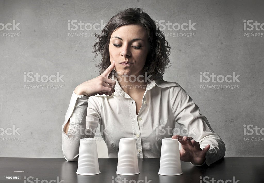 Conjuring trick stock photo