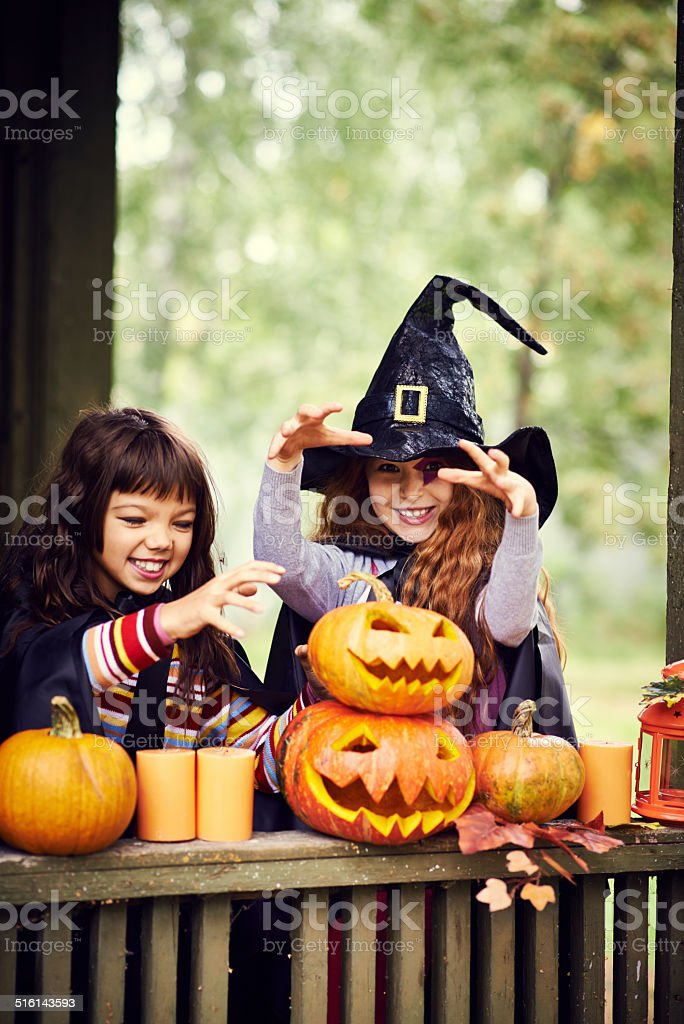 conjuring witches stock photo
