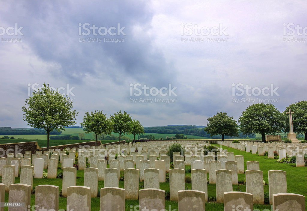 Connaught Cemetery stock photo