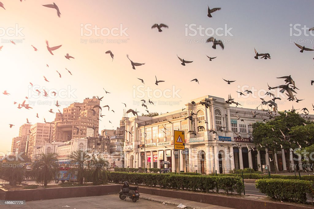 Connaught Place, New Delhi, India - CNGLTRV1109 stock photo