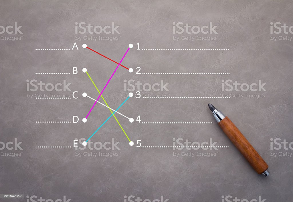connect concept with pencil doodle on grey background.jpg stock photo