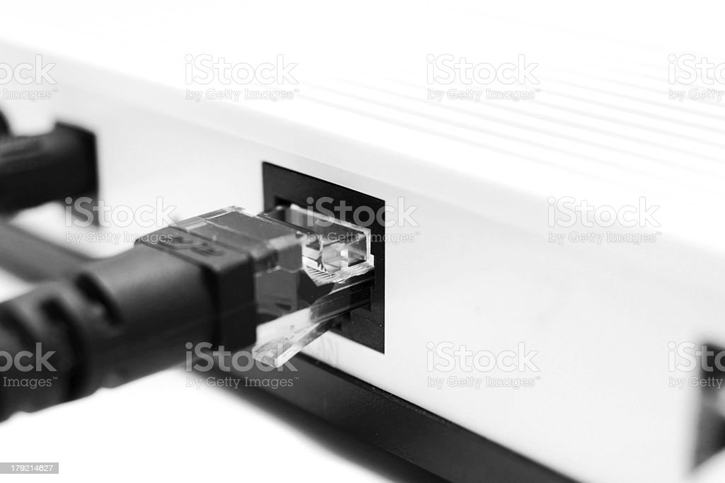 Connect. On a white background. stock photo