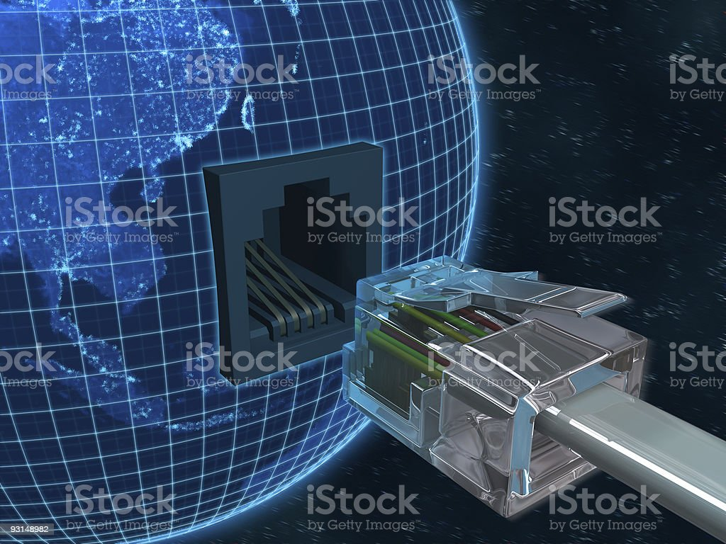 Connect Planet Earth royalty-free stock photo