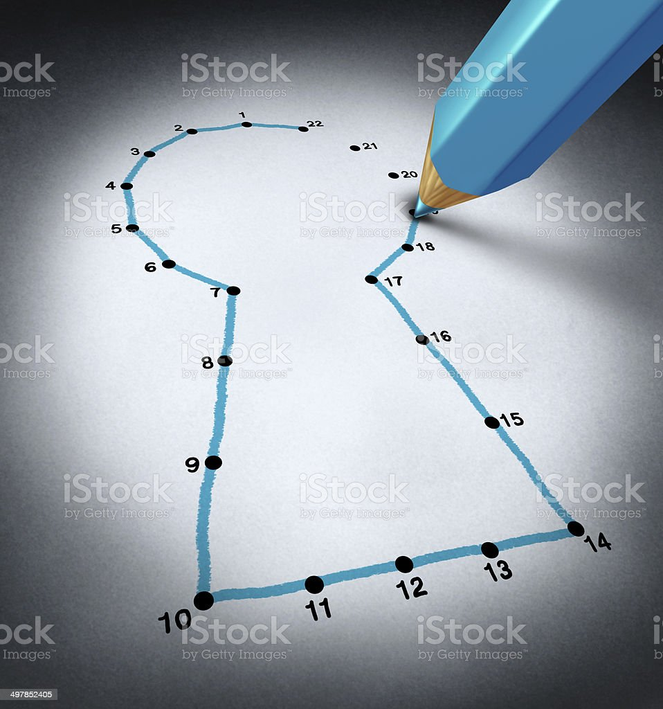 Connect The Dots stock photo