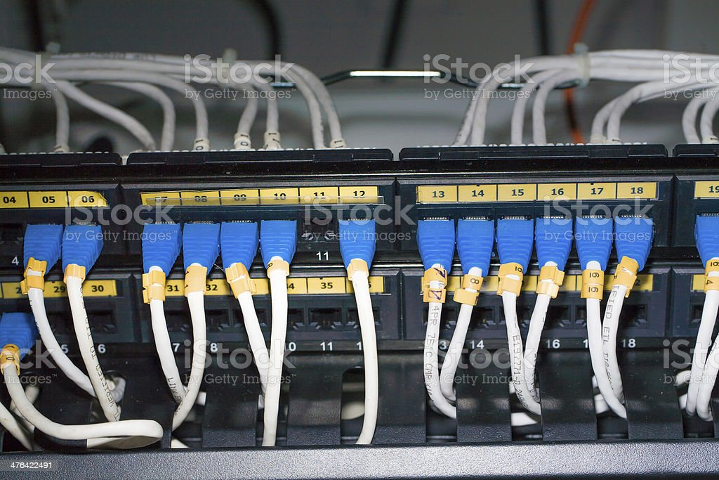 UTP LAN Connect the ethernet port royalty-free stock photo