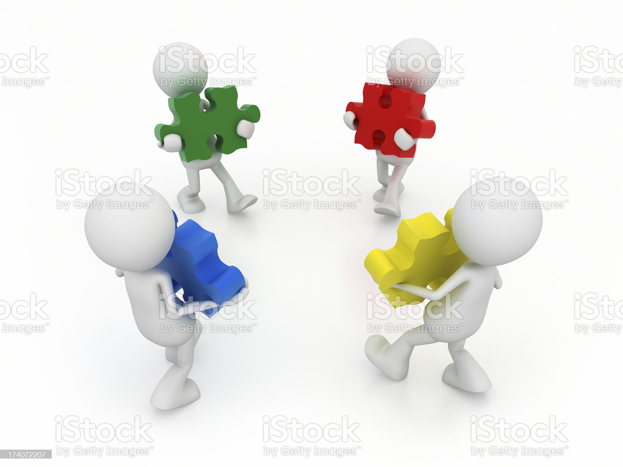 Connect together royalty-free stock vector art