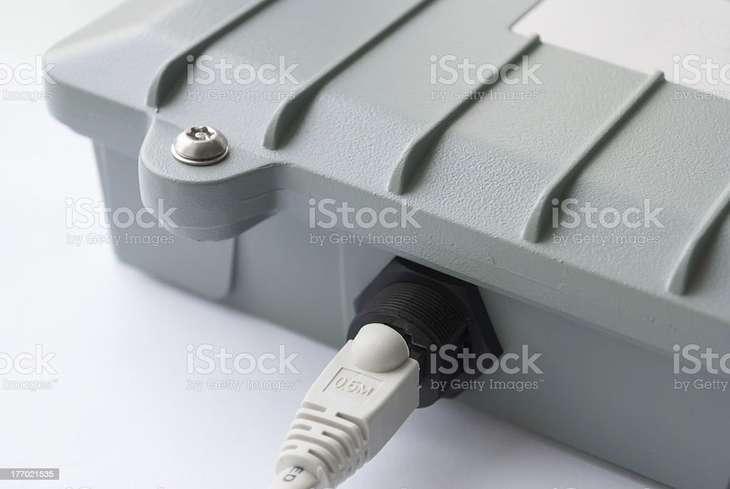 Connected access point. stock photo