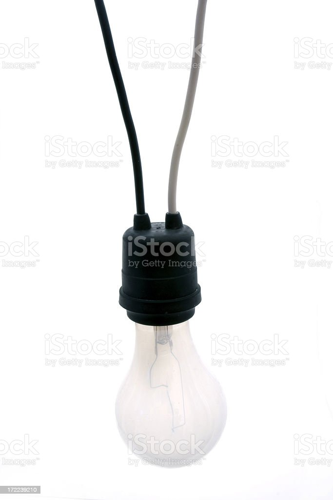 Connected bulb stock photo
