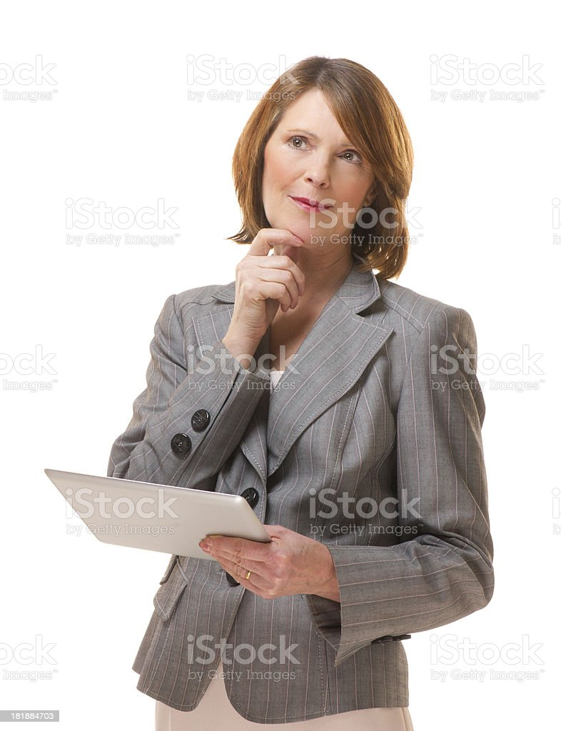 connected business woman royalty-free stock photo