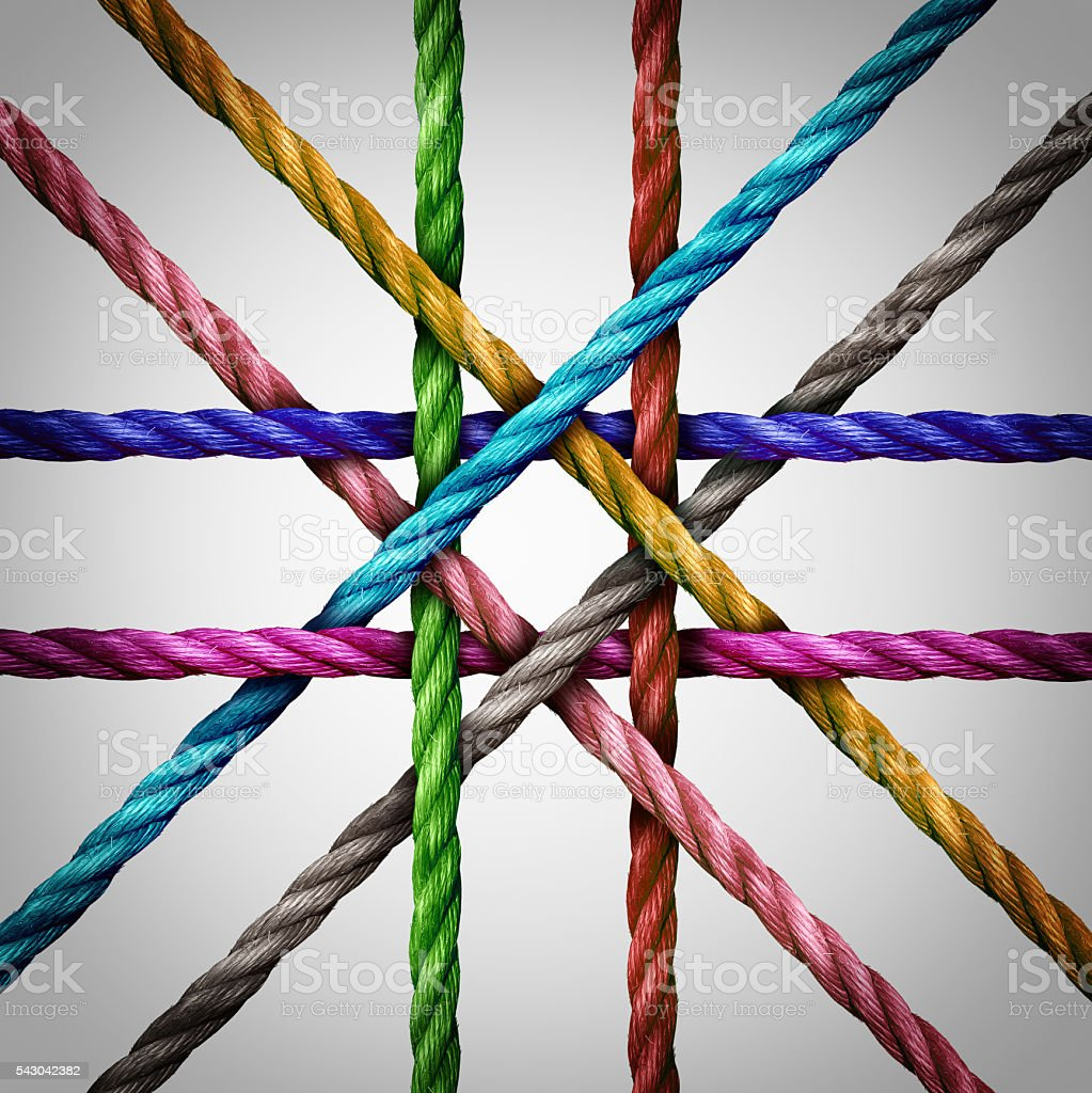 Connected Centralized Networking stock photo