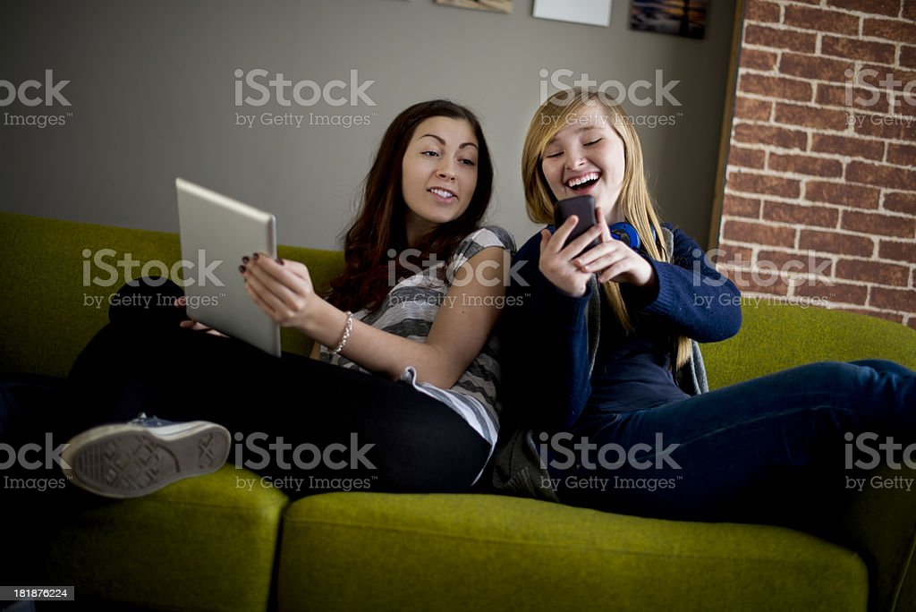 connected friends royalty-free stock photo