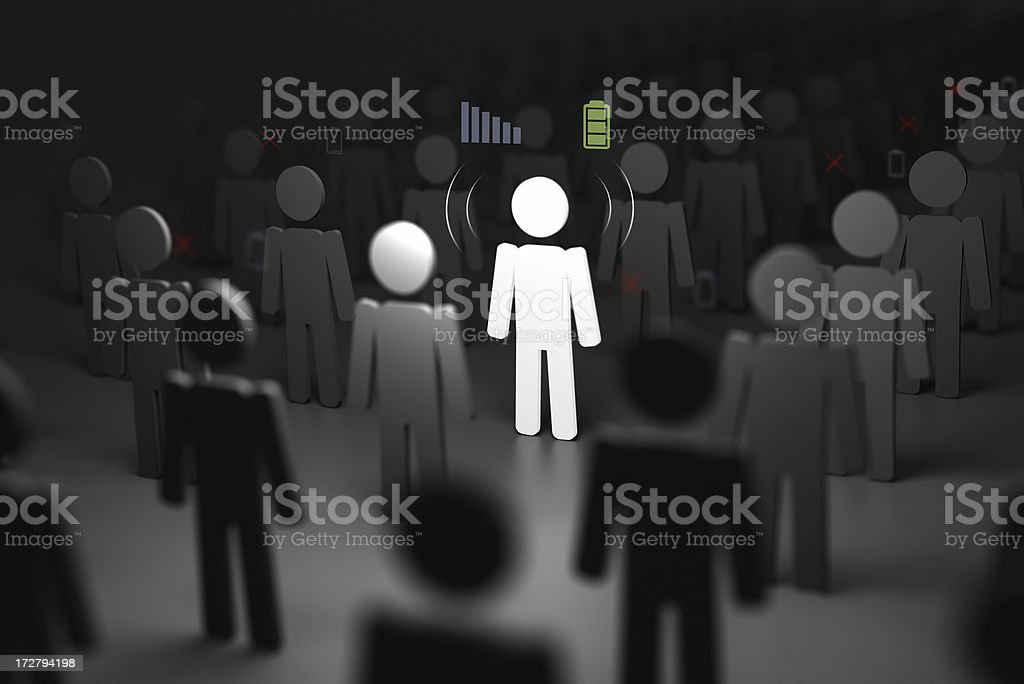 connected individual stands out royalty-free stock photo
