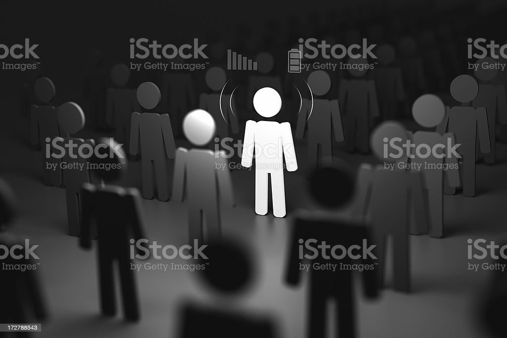 connected man royalty-free stock photo