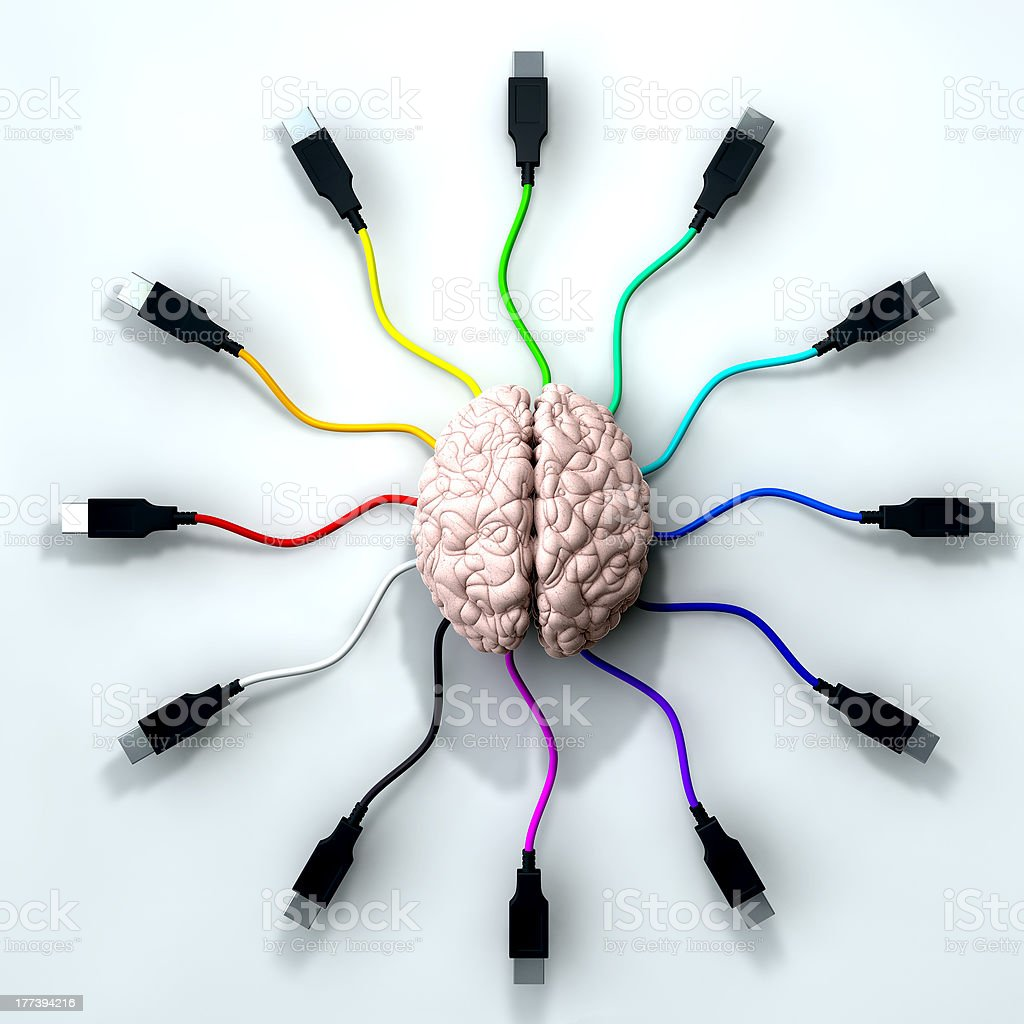 Connected Mind royalty-free stock photo