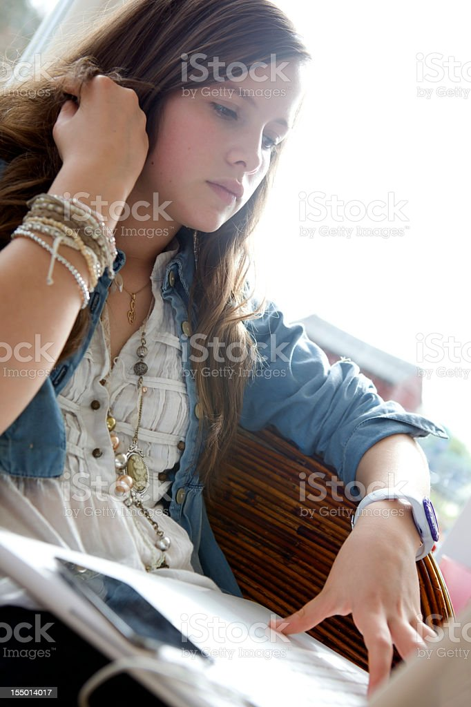 Connected Teen royalty-free stock photo