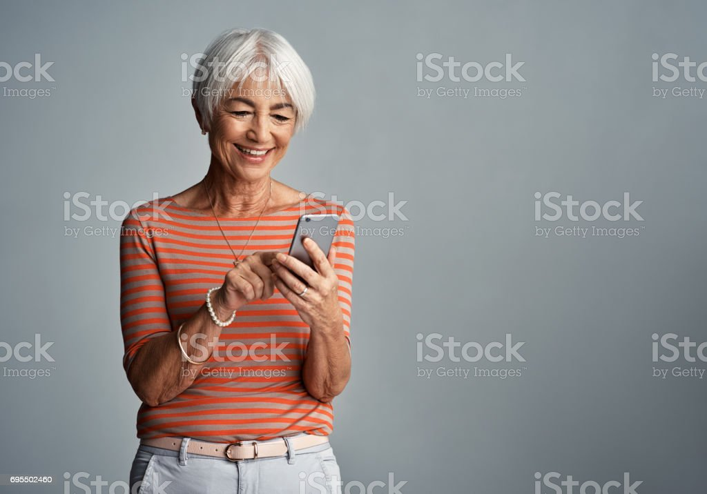 Connected to everyone and everything stock photo