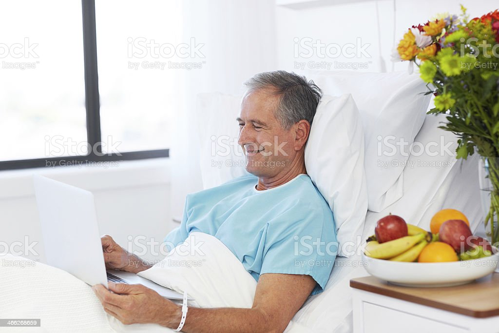 Connected to his family royalty-free stock photo